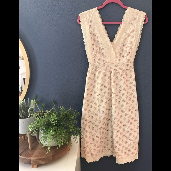 c90a718297d6 Anthropologie Dresses | Euc Anthro Dress With Tie Belt Maeve Size 14 ...
